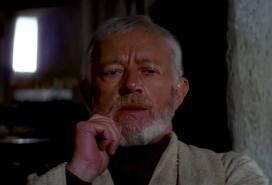 Alec Guinness and Obi wan Kenobi