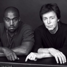 Rapper Kanye West with Sir Paul McCartney