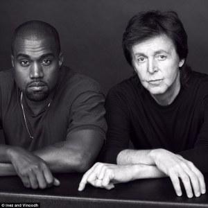 Rapper Kanye West with Sir Paul McCartney