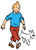 Tintin and Snowy