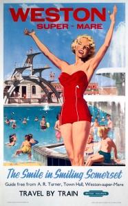 'Weston-super-Mare', BR poster, 1948-1965.